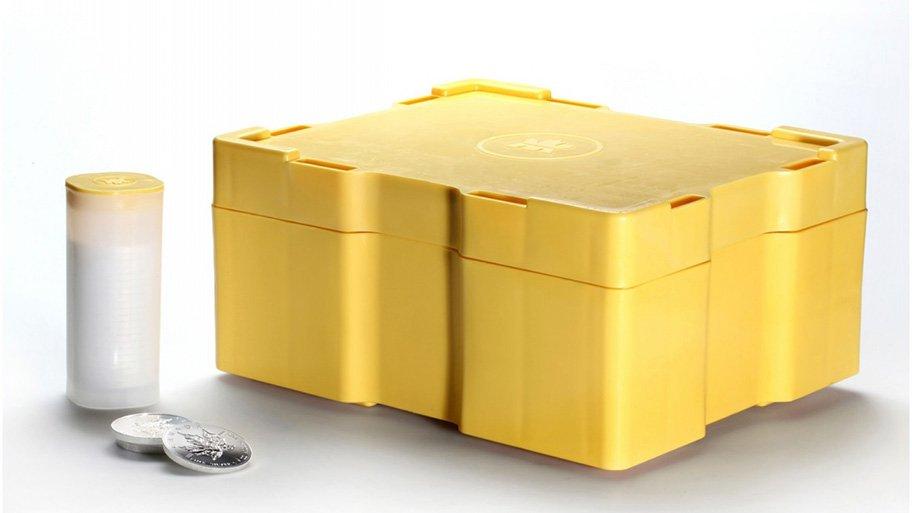 silver coins box