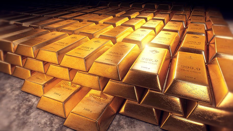 gold bars rendered