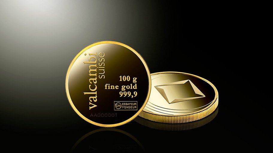 gold valcambi coins
