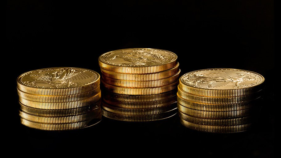 gold coins - gold prices higher